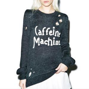 ☕️ Wildfox Caffeine Machine Misty Sweater NWOT